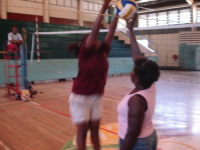 Elvina Donga working with National Player