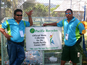 Volunteers keeping cricket grounds clean