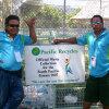 Volunteers keeping cricket grounds clean