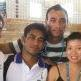 Jianli Feng, Sophy Chen with the Samoan team