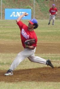 American Samoa's Vena Maae releases a pitch in the second inning