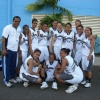 Fiji girls smile after a huge win agains PNG