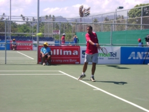 Nickolas N'Godrela focuses on his next shot