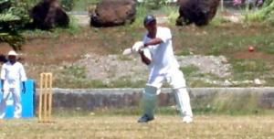 Samoan Batsman, Konelio, helps Samoa home for a bronze medal.