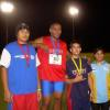 A man among boys !   Rabangaki won the Discus.
