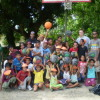 Mwan Elementary School Students with Coaches