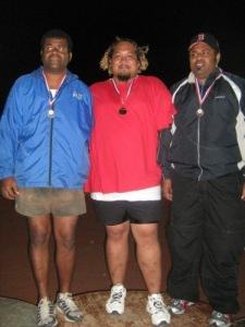 Discus medal recipients