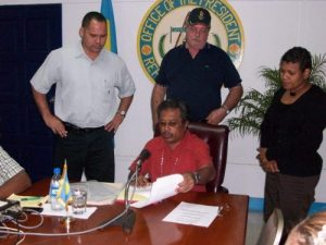President Remengesau signing Directive