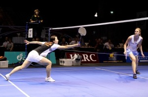 Women's singles final; Zhou Mi vs Rachel Hindley
