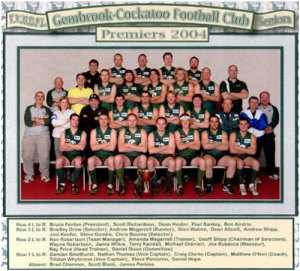 2004 Seniors - Premiers