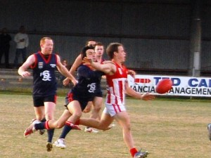Brad Bruni tackles