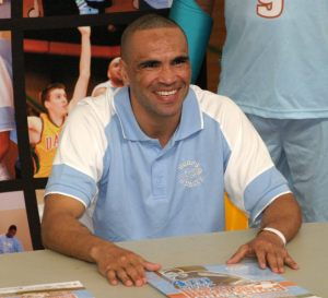 Anthony Mundine at the H4H launch at DBA