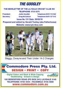Issue 131-20 Feb 10 - Lilydale Cricket Club - SportsTG