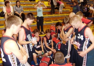 14 Boys Team Huddle