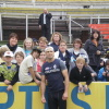 Captain Chris Judd with the kids and parents from the Long Gully Neighbourhood centre