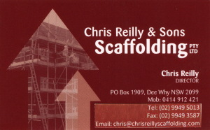 Chris Reilly & Sons Scaffolding