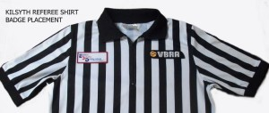 Placement of Badges on Referee Shirt