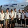 Fiji Triathlon Team at the Tongan Airport