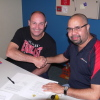 Skytrans Billy Gordon and Lloyd Issacson sign sponsors agreement