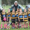 Coach - Peter McDonald with some of his Under 7 players