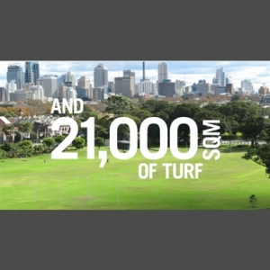 Centennial Parklands Community Report 2011-12  and 21000 sqm of Turf