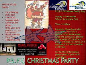 Peninsula Strikers Seniors Christmas Party