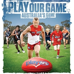Play our Game - Australia's Game airbrush logo