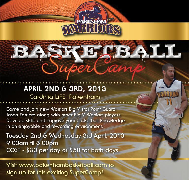 Warriors Youth Basketball Camp: WARRIORS SUPERCAMP REMINDER
