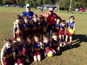 Adam Goodes with the U10's Goodes Team