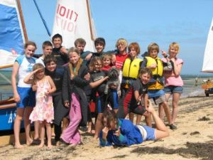 Juniors having fun at the Victorian Heron State Championships March 2007
