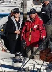 Kate and Paul Jenkins on Caledonia preparing to leave RGYC
