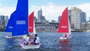 Trinity and St Bedes go head to head at the 2010 Victoria Harbour School Sailing Championships