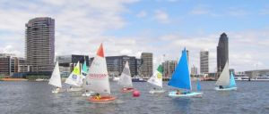 A strong fleet enjoyed the short course racing in December