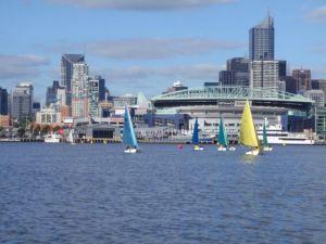 Juniors sailing Access dinghies