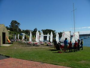 29 Optis on the rigging lawn at TYC - Beauty Point