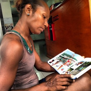 Vanuatu's Joslin enjoying seeing her team in print!