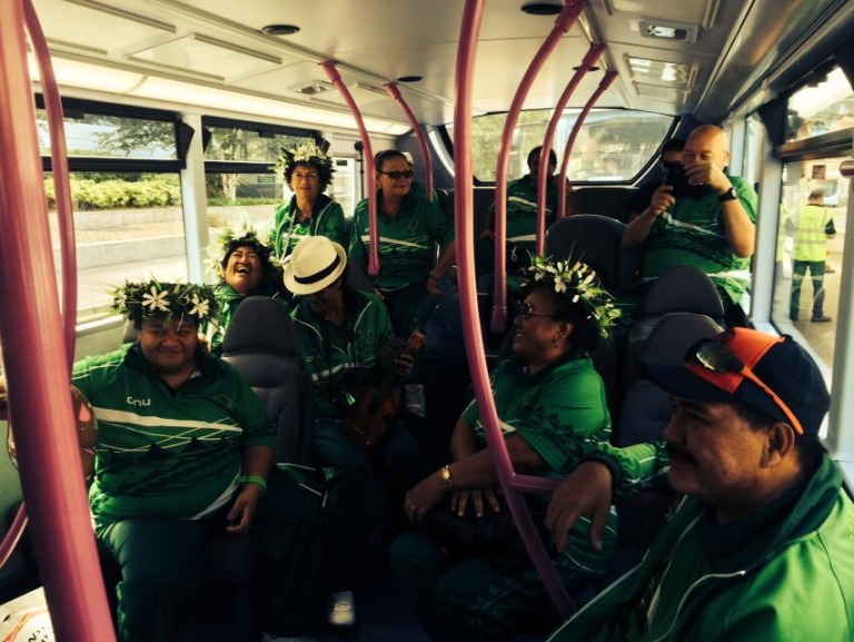 Lawn Bowls and Athletics Arrival in Glasgow - Cook Islands Sports