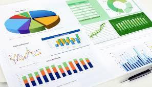 Finance report graphic