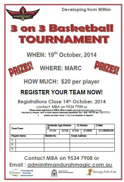3 On 3 Basketball Tournament Mandurah Basketball Association