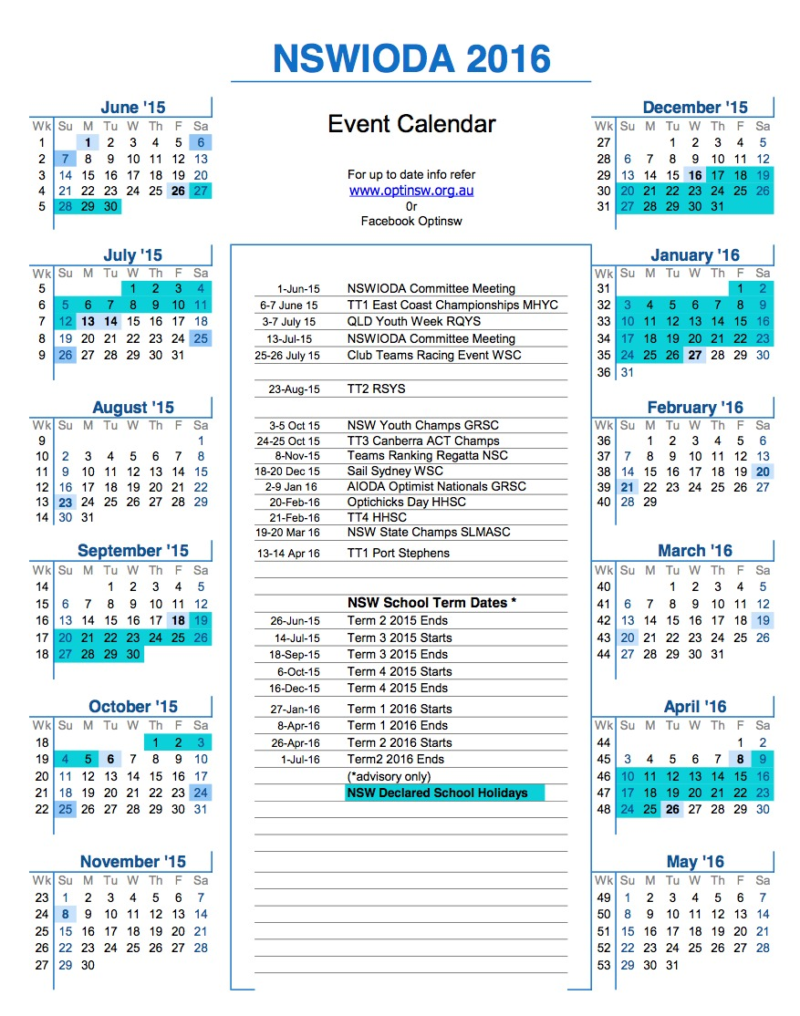 Calendar Nsw : Nswioda event calendar  nsw international