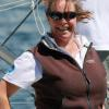Sally - exhilaration at the finish of Melbourne to Hobart 2011