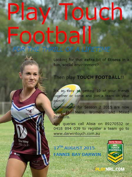 play touch football 2015 season 2 northern territory rugby league sportstg AYSO U14 Coaching Manual Youth Soccer Coaching Manuals