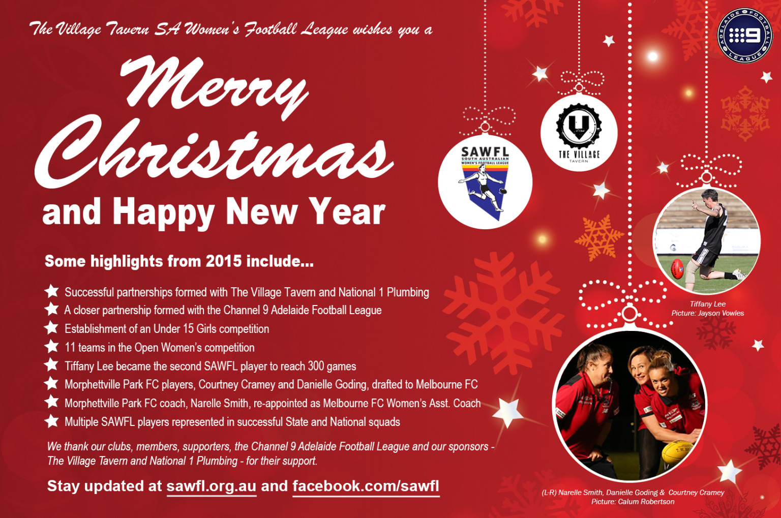 Merry Christmas Happy New Year From The Village Tavern Sa Women S
