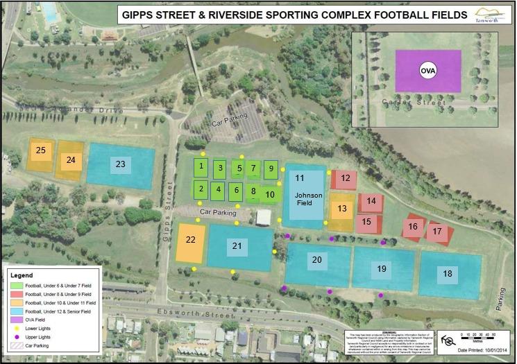 Gipps St Field Layout 2017 Tamworth District Football Association