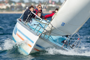 Kellie Knowles at the helm of her S80 Take One _credit Steb Fisher Photography