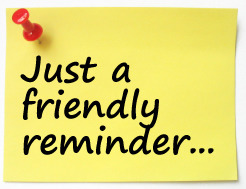 Image result for friendly reminder
