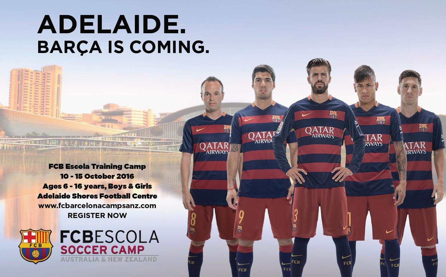 Fc Barcelona Spring Camp In Adelaide Football Federation South