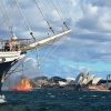Land Ahoy for Tenacious July 2016 as she approaches Sydney Opera House