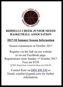 Summer Season registration information