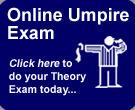 Online Umpires Exam Button